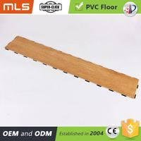 Anti Scratch Interlocking Removable Pvc Taupe Maple Wood Like Vinyl Floor Tile