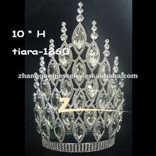 Various sizes for Wholesale Beauty large crystal queen pageant crown