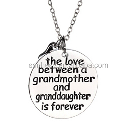 Mothers day gifts cheap moon heart mom necklace