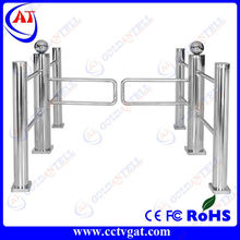 Stainless steel manual swing barrier gate bi-directional mechanical turnstile security fingerprint access control