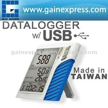 USB Wall mount 0~9999ppm Carbon Dioxide CO2 data loggers Made in Taiwan