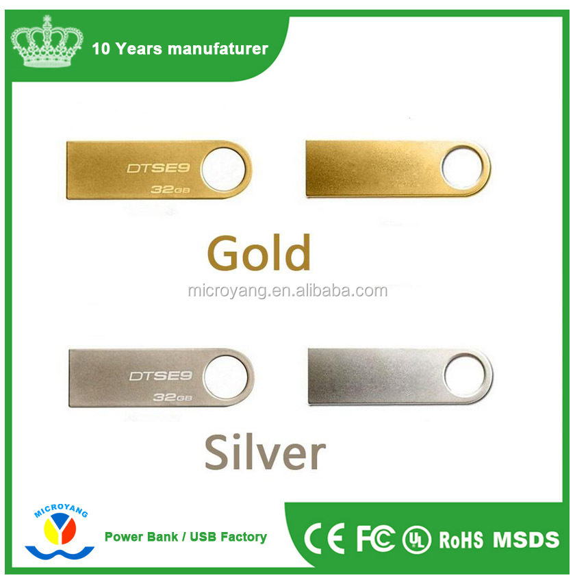 Free sample luxury stainless steel metal mini usb flash disk for Kingston