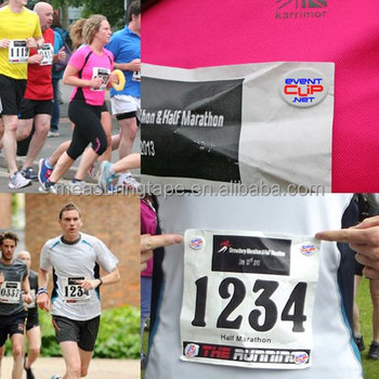 Custom Marathon Running Race Numbers Bib Tyvek Paper Race Bibs with Free Pins