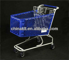 CE Certificated Plastic Shopping Trolley,Plastic Grocery Cart,Plastic Trolley