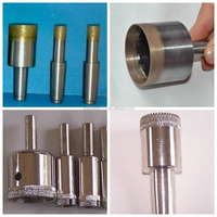straight shank electroplated glass core drill bit/sintered glass diamond core drill bit