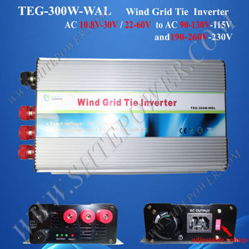 300W wind Grid Tie Inverter for Wind Turbine Generator 3phase ac 10.5-30v/22-60v input to ac 100v/110v/120v/220v/230v/240v