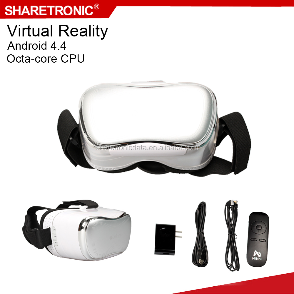 All in one type 3d glasses vr headset virtual reality games 5 inch 1080P screen