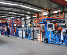 PET sheet extrusion Line with plastic extruders