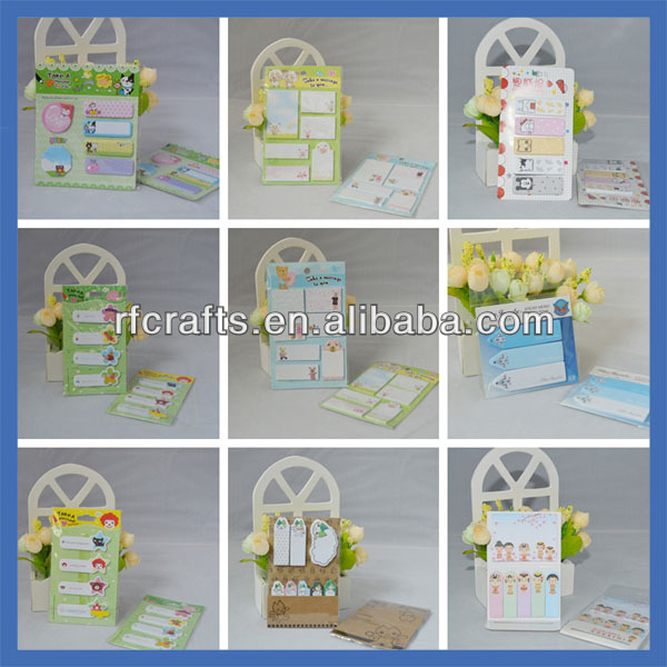 Four Folded Cover Cartoon Sticky Notes