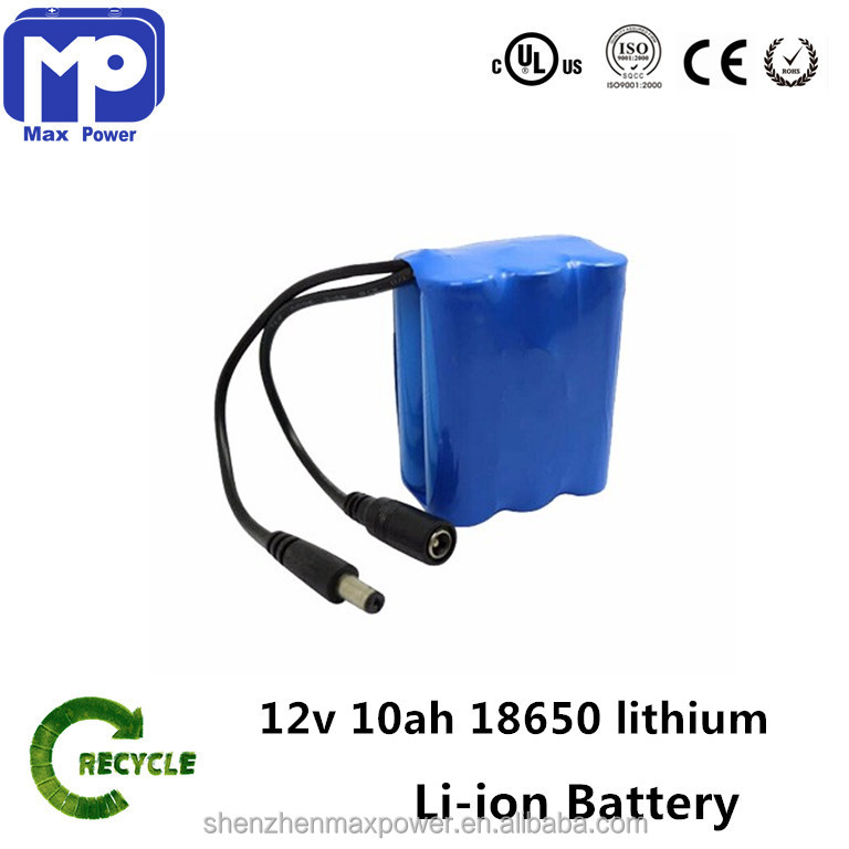 10ah 12v battery consumer electronics 18650 li-ion rechargeable battery pack