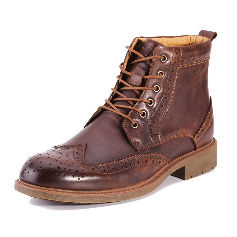 anti-slip outsole lace up men genuine leather <strong>boots</strong> ankle dress <strong>boots</strong> for men