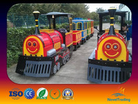 Amusement Park Luxury Electric Trackless Train For Sale !
