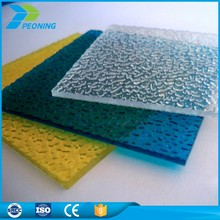 Best selling polycarbonate pc diamond embossed solid sheet