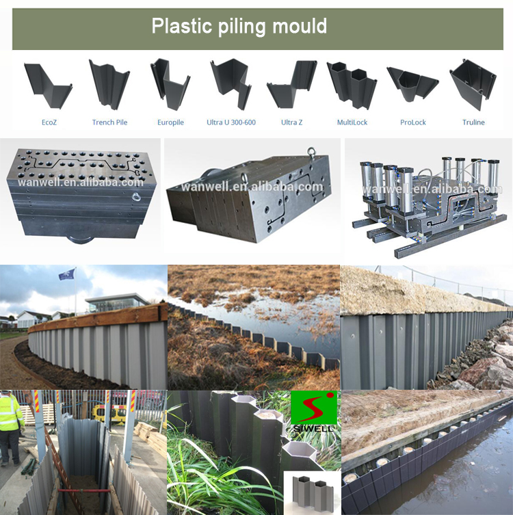 Plastic trench pile mould