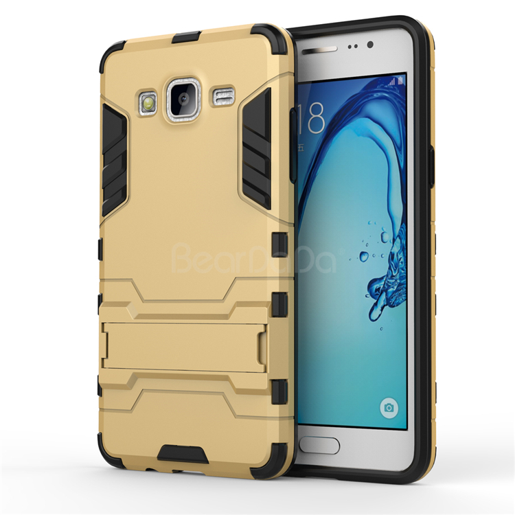 Iron bear slim armor case kickstand back cover case for samsung galaxy on5