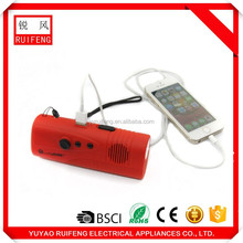 multifunctional dyynamo Flashlight with Mobile Phone Charger and USB AM/FM work Radio