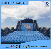Outdoor inflatable slide on land for events,inflatable slide with zorb ball