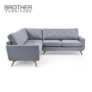 Contemporary l shape leisure linen best great fabric sofa furniture design