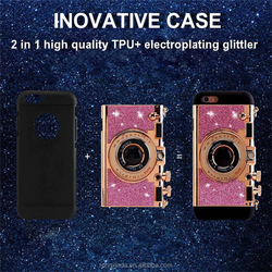 New !!! for iphone 7 bumper case,for iphone 7 case mobile phone mirror stand led glitter case hot sale latest 5g mobile phone