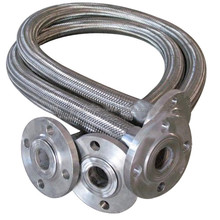 SS 304 flange joint braided metallic hose