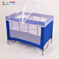 Fashionable Folding Portable Baby Playpen Travel Crib Cot with Mosquito Net