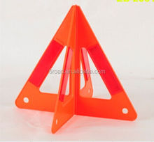 Red Safety Reflective Traffic Warning Triangle for Emergency