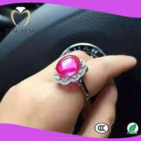 popular 925 silver red stone wing ring