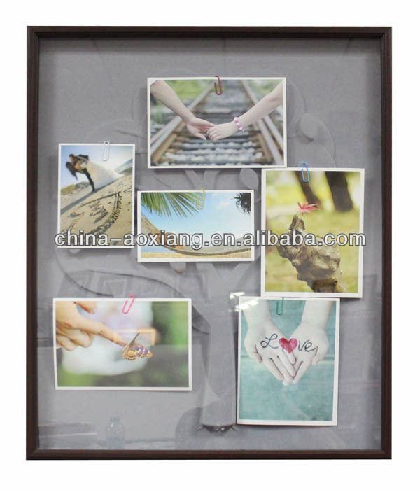Plastic family tree f photo rames - Multi pictures PVC backing