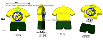 Factory custom logo FOOTBALL JERSEY shape usb flash pen drive
