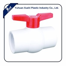 Plastic Red one way Handle White Body north america mexico united states market valve