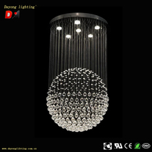 High Watt DY3325-6 long crystal ball chandelier with bluetooth speaker