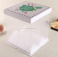 plastic cake box transparent cake box
