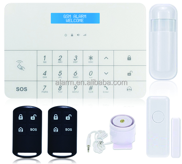 Economic IOS Android APP RFID tag wireless gsm home alarm system camera house used burglar alarm