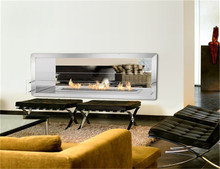 Marble suround wall mounted electric fireplace