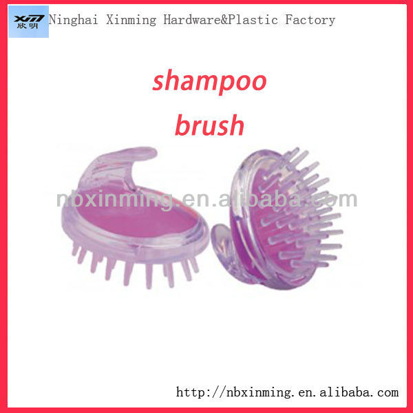 Plastic hair washing scalp brush