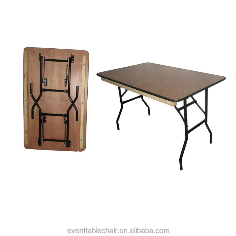 Qingdao furniture table high quality plywood folding dining wooden wedding party event table afolding banquet table
