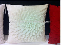 new 3D flower design of white rose cushion cover