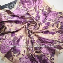 2015 Charming Square Crepe Satin Silk Scarves