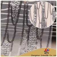 Facroty textile polyester small and big sequin voile lace fabric nigerian african swiss for popular sale