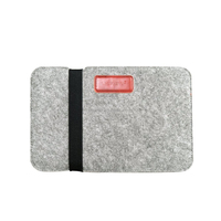 "J.M.SHOW Notebook Sleeve Bag PU Leather Case Wool Felt Sleeve Bag 8"" for for ipad mini 8 inch General Style"