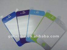 whole sale!!! For Iphone4 color easy sticker screen protector