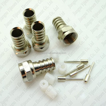 Hex rg58 F male Type Crimp Connector 75Ohm 3 pin plug