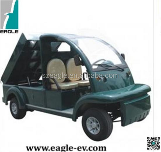 CE approved electric utility golf car, hydraulic lifted cargo bed, EG6063T