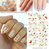 K5716B/14 Strips cute heart pattern nails foil wrap nails stickers nail art supply