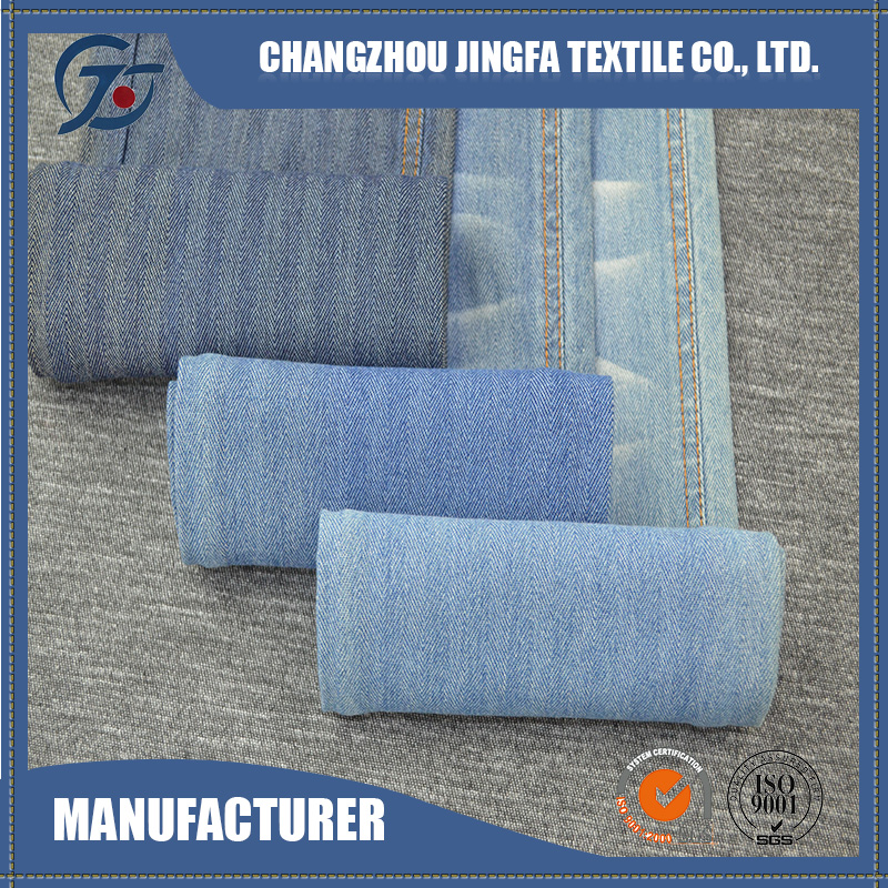 High quality long duration time knitted jean stretch denim fabric