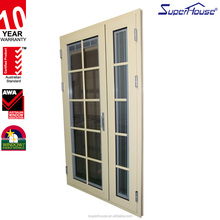 AS2047 And CSA Standard Exterior Aluminium Glass privacy blinds and grids Design double hinges main entry Door