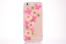 Handmade Pressed Dried Real Flowers Clear Silicone TPU Protective Plastic Soft Phone Case for iPhone 5 5 se 6 6s 7 plus