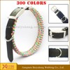 wholesale leather dog collar material with name tag