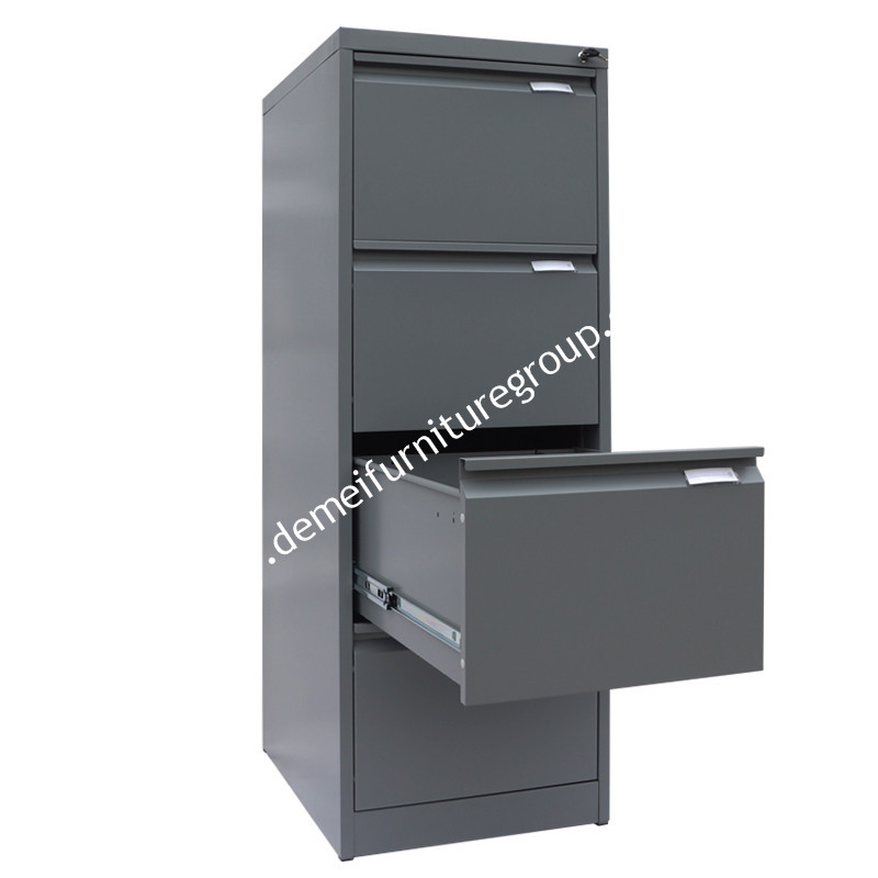 Heavy gauge Metal construction 4 drawer office hanging file cabinet for archive