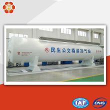 China mobile fuel oil lng storage tank filling machine station